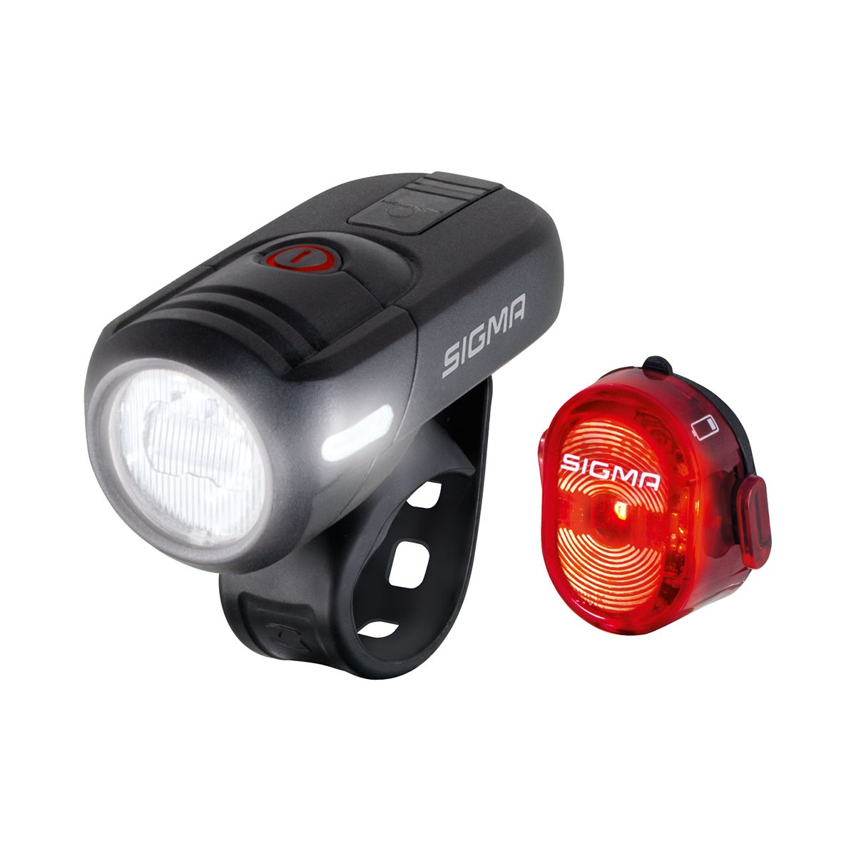 AURA 45 USB LED front light / NUGGET II rear light kit
