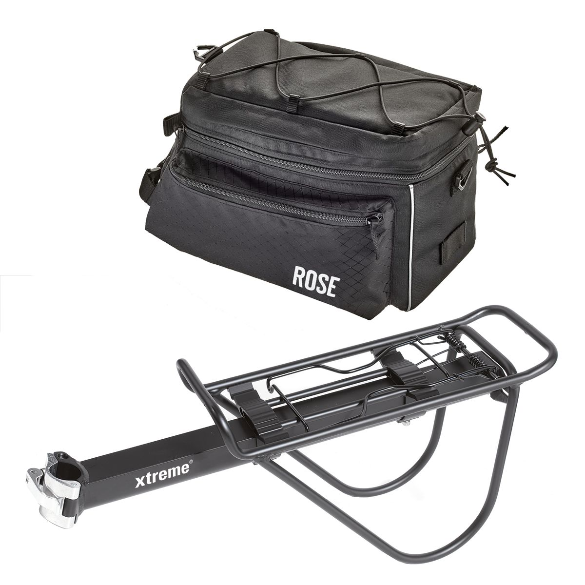 Set seatpost rack S.P.R. II incl. bag